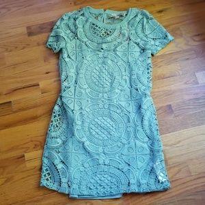 Forever 21 Crochet Overlay Dress